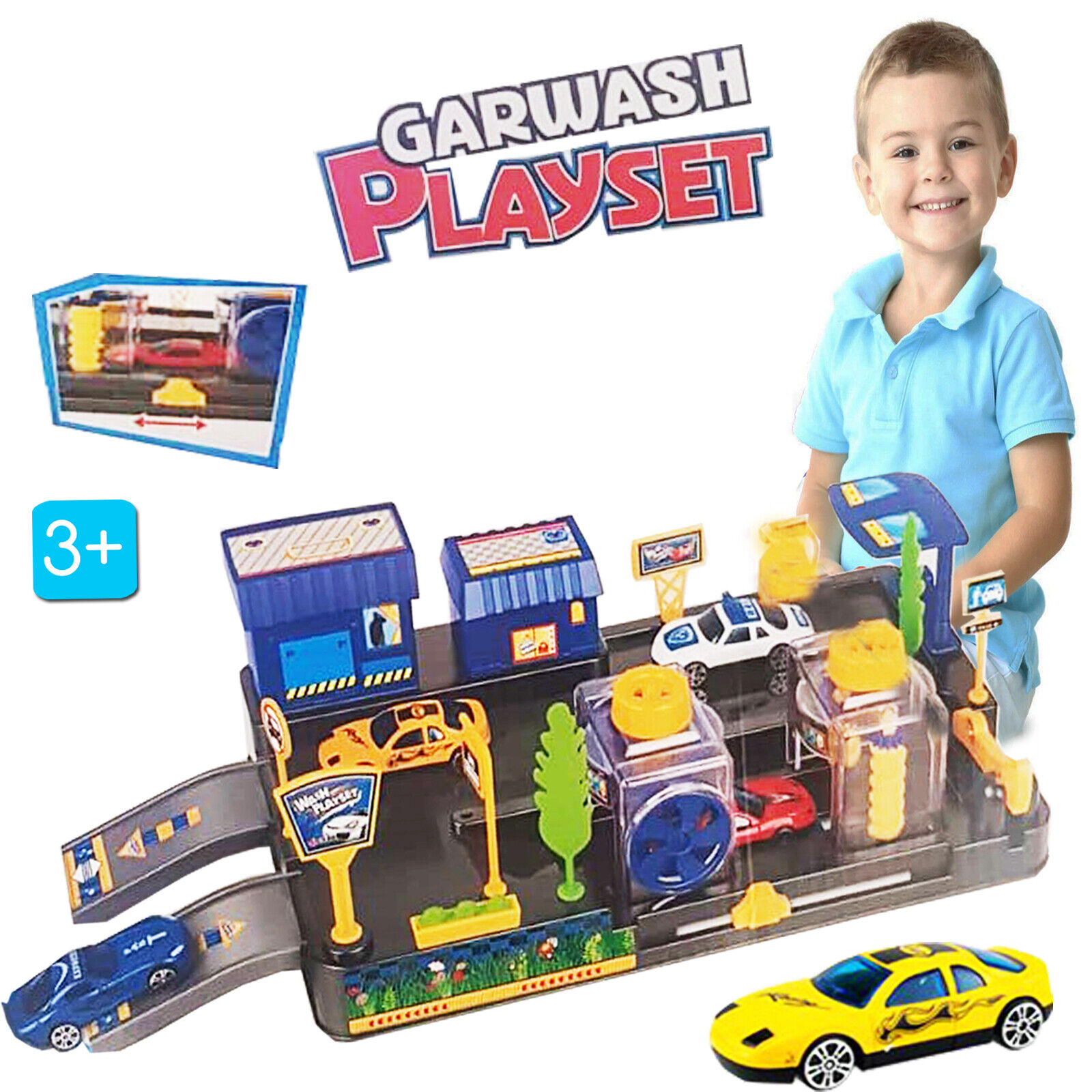 Kids Car Wash Connectable Play Set Car Toy Play Fun Gift Baby Children Cars Toys Ebay