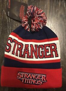 86d32e6c7c3 NWT Official Netflix STRANGER THINGS RED Beanie Hat Loungefly NEW ...