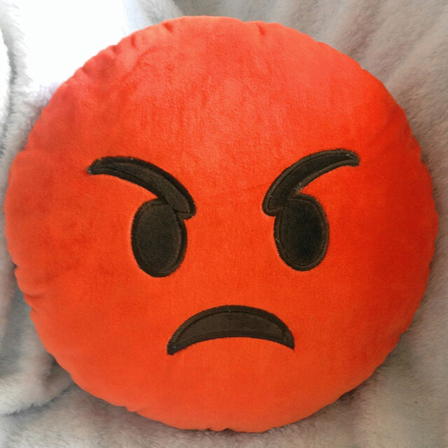1 Pcs Soft Emoji Smiley Emoticon Pillow Yellow Stuffed Round Cushion Plush Toy