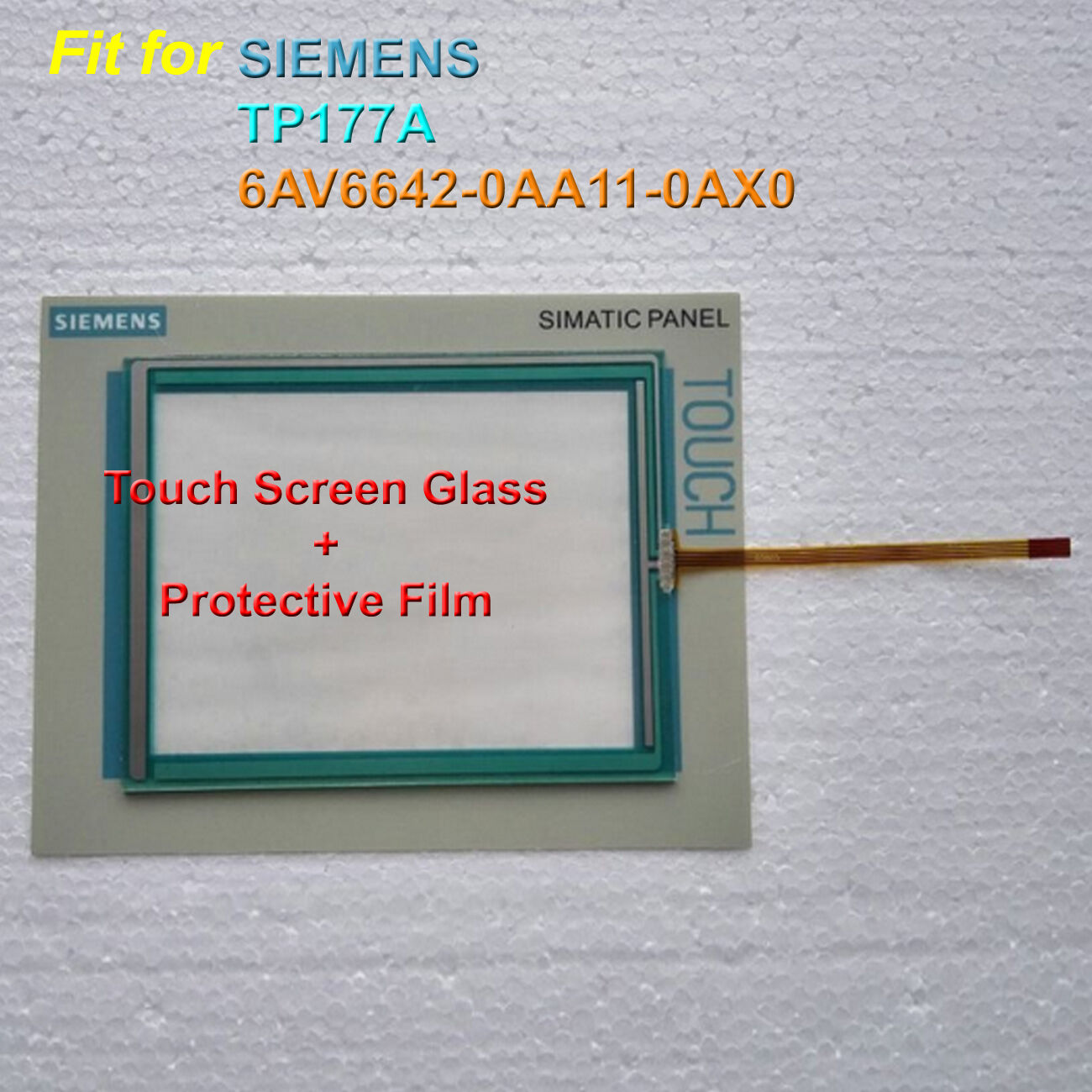 Touch Screen Glass + Predective Film for SIEMENS 6AV6642-0AA11-0AX0 TP177A
