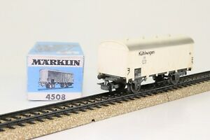 Marklin-4508-h0-vagones-carro-de-refrigeracion-de-la-DB-blanco-en-OVP