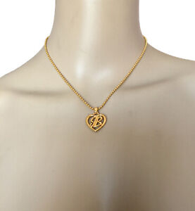 LANVIN-VINTAGE-LOGO-L-PENDANT-GOLD-NECKLACE