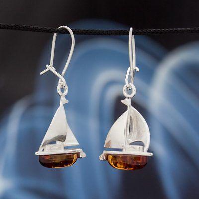 Fine Jewelry Orecchini Pendenti Monili Argento Sterlina 925 Ambra Donna H0257 Drip-Dry
