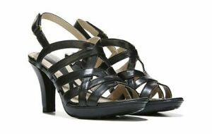 bfc15cc786dc Image is loading NATURALIZER-WOMEN-039-S-DELMA-DRESS-SANDAL-BLACK-