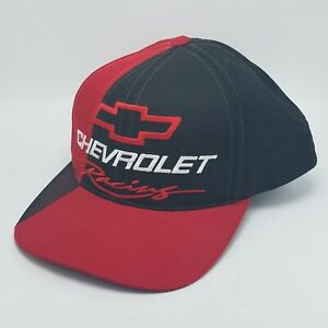 Vintage Chevrolet Racing Hat Cap Chevy Snapback 90s Checkered Flag NWOT