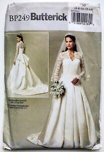Princess Grace Wedding Dress.Details About Butterick 5731 Misses Princess Grace Style Wedding Dress Sz 8 14 Uncut Ff