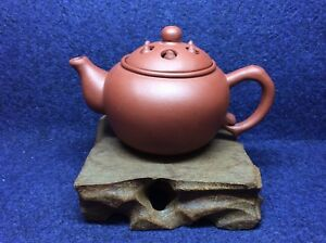 Chinese-Old-Yixing-Zisha-Lotus-Seed-Design-Teapot-Year-80s-to-90s-100ml