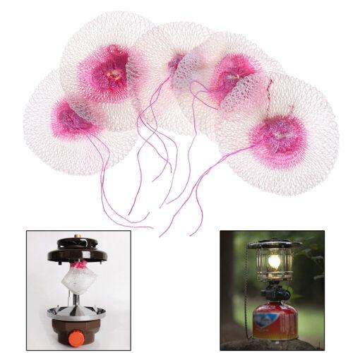 5Pcs Gauze Mesh Camping Gas Lantern Mantles Non-Polluting Light Lamp  In RA