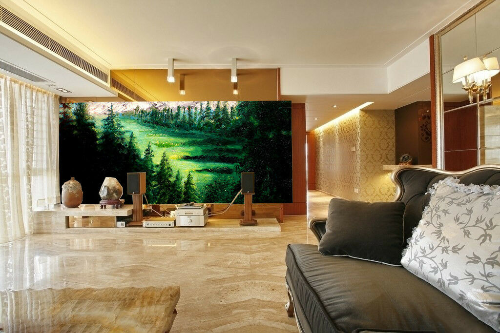 3D Dschungel Schnee Berge 97 Tapete Wandgemälde Tapete Tapeten Bild Familie DE   Leicht zu reinigende Oberfläche    Neuartiges Design    Erlesene Materialien