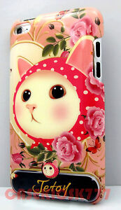 for-iPod-touch-4th-4-th-4g-itouch-case-kitten-cat-kitty-hot-pink-polka-dot-hard