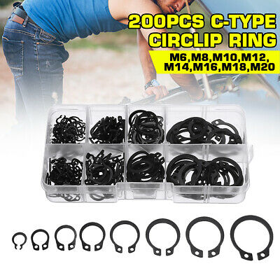 300 pc Internal Snap Ring Assortment Retaining Snap Hook Ring Clip with Case
