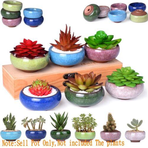 1Pc Mini Small Ceramic Succulent Plant Pot Flower Planter Holder Cactus Neu EN