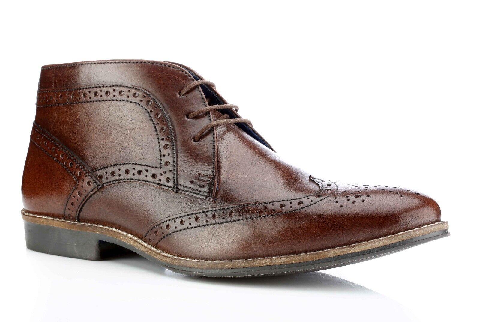 Red Uomo Milton Tape Marrone Nuovo Stivale Formale Scarpe classiche da uomo