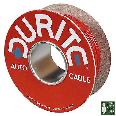 Durite-Câble 14//0.30mm unique en PVC rouge 50 m 0-942-05