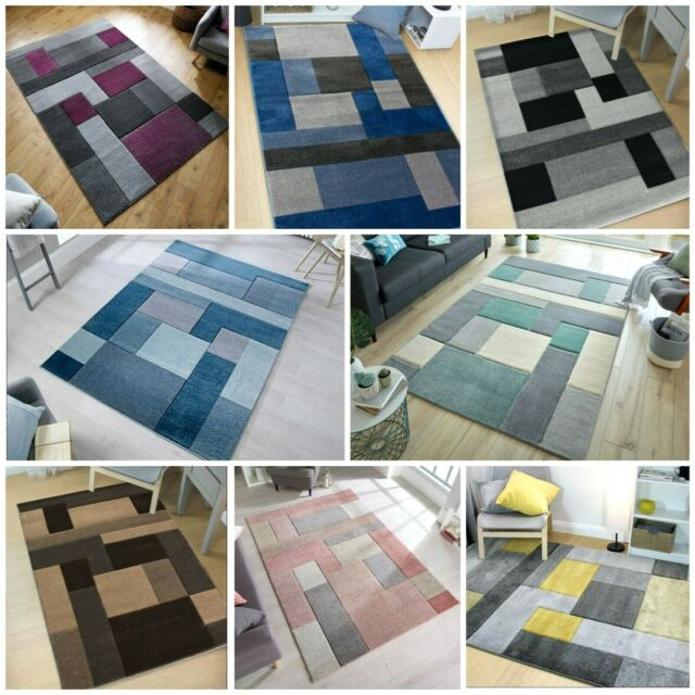 Grey shaggy rug soft new modern 120x170cm 4x6ft Thick Pile