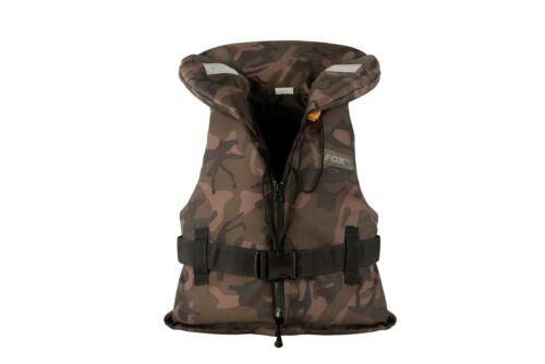 Fox Kids Camo Life Jacket 20-30kg Childrens Fishing Lifejacket