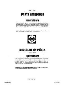 Ski Doo Parts >> Bombardier Ski Doo Parts Manual Book 1973 1974 Everest T Nt F A