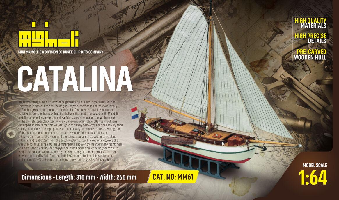 MM61 Modello kit barca CATALINA serie Mini Mamoli scala 1 64