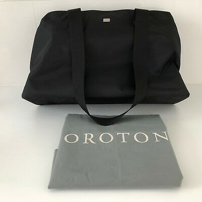 Changing Pads & Covers 'oroton' Bnwot Versatile Black Double Sided Short & Long Strap Large Bag Baby