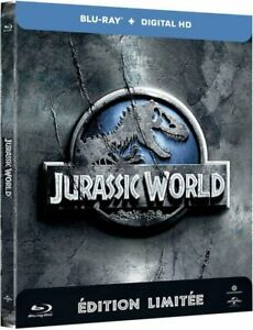 Jurassic-World-Steelbook-Edition-Limitee-Blu-ray-2015-NEUF-SOUS-BLISTER