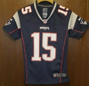 Details about Nike Blue Chris Hogan New England Patriots #15 Football Jersey Youth Small 8