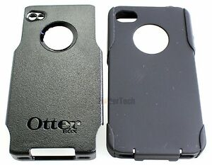Authentic-Black-Otterbox-Commuter-Hybrid-Case-Cover-For-Apple-iPhone-4-4S