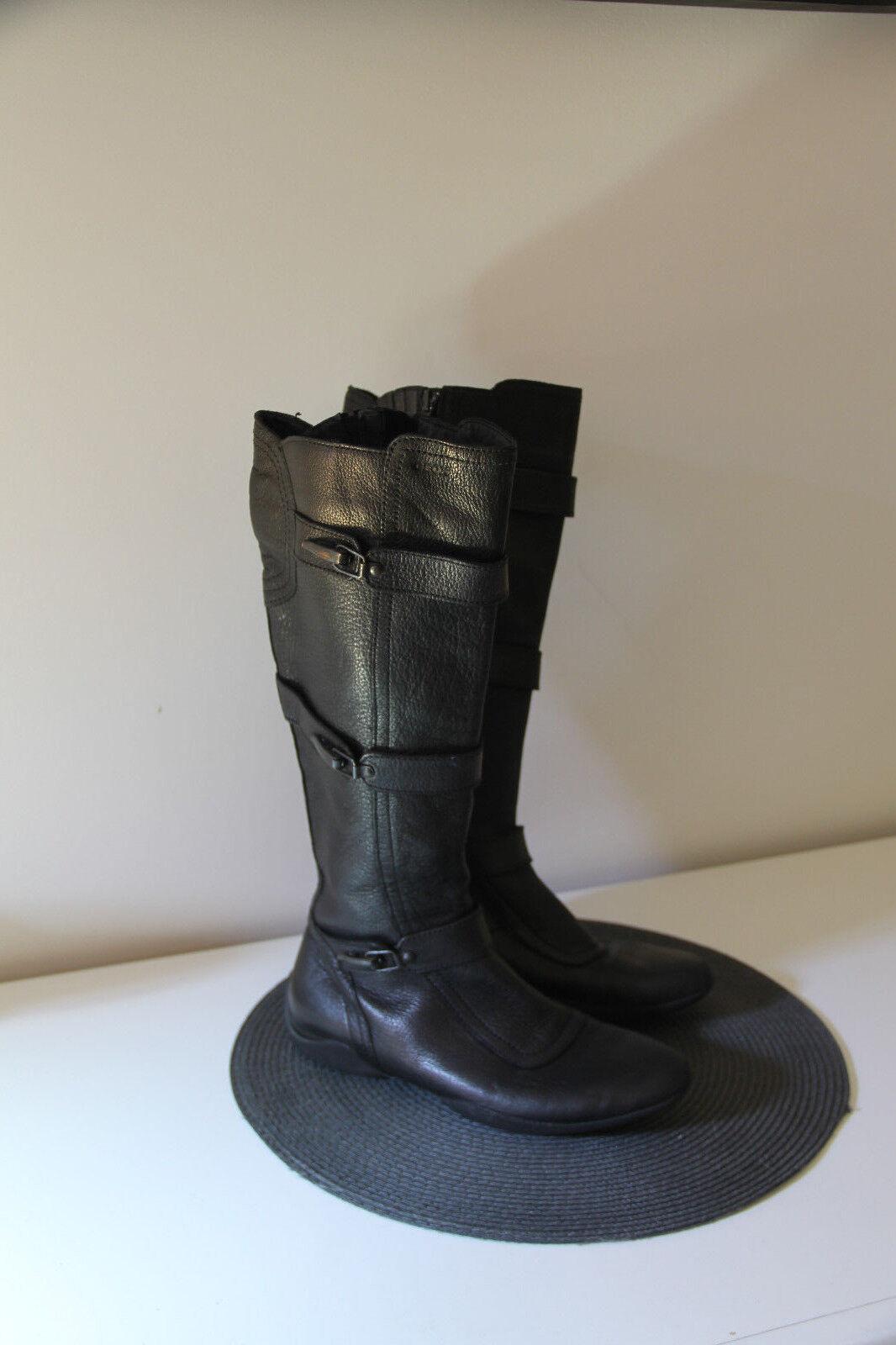 Pretty Stiefel flat schwarz Leder Leder Leder zipped winter GEOX Größe 38 8b5433