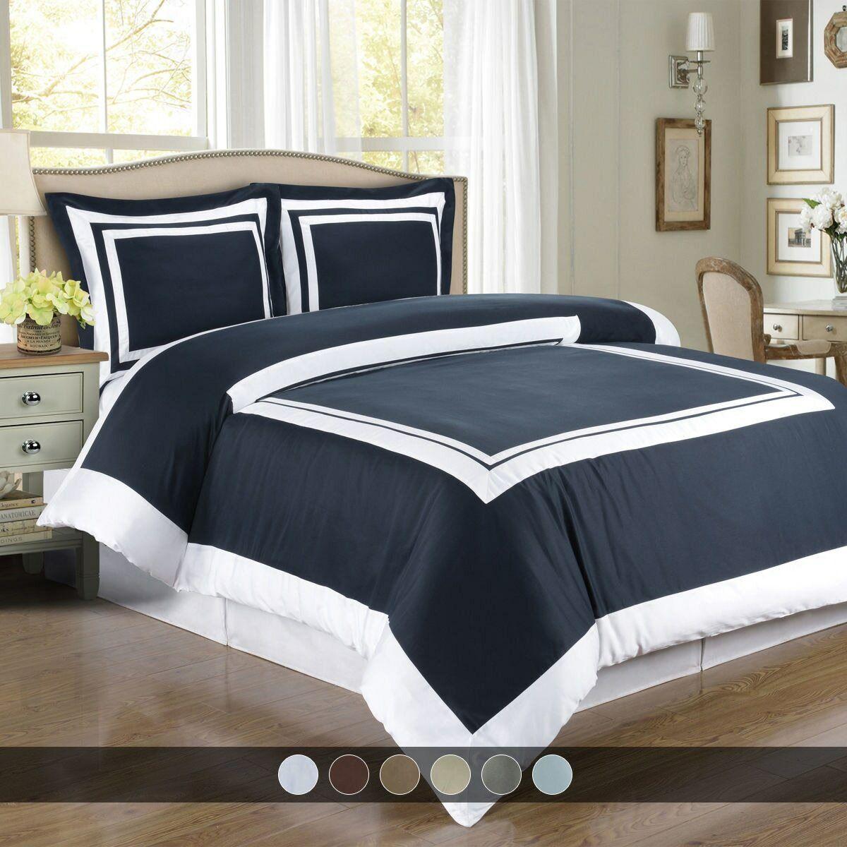 Hotel 100% Cotton Duvet Cover Set Full - Queen - King - Calking Duvet and Shams