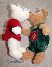 RARE HALLMARK KISS KISS CHRISTMAS BEARS boy & girl Holiday Winter snowflake NWT