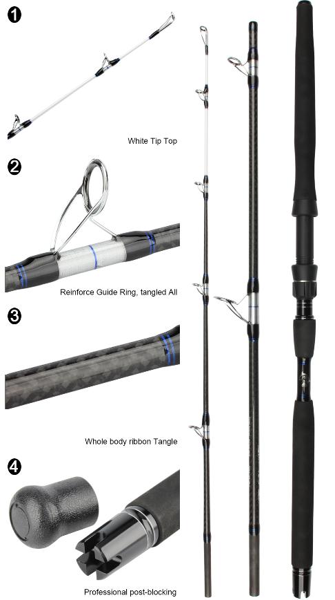 Fishing Fishing Fishing Rod Carbon Fiber Popping Rods Full