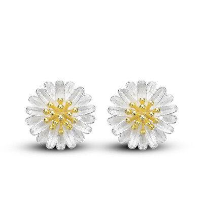 Ohrstecker Gänseblümchen echt Sterling Silber 925 Perlen Damen Ohrringe