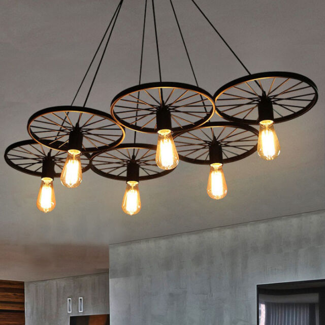 Wagon Wheel Chandelier Cabin And Lodge Decor Rustic Lights Fixture Ceiling Lamp