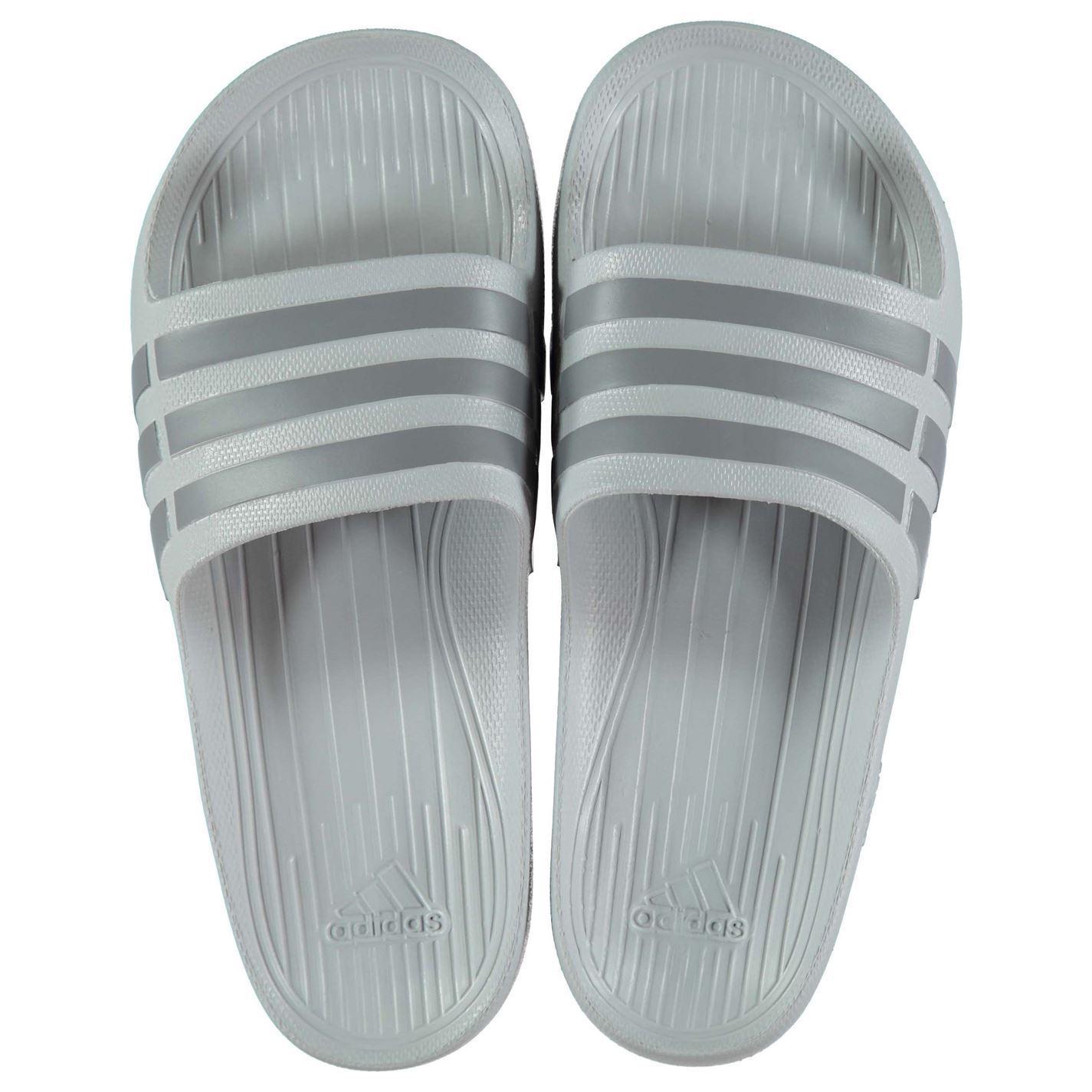 NEW Adidas Hombre Hombre Adidas Duramo Sliders Flip Flops  Clear Onix Gray Talla FROM 4-14 6d58bd