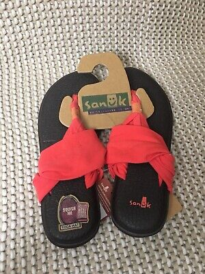 Painstaking Sanuk Women's Yoga Sling 2 Coral Fashion Sandals Shoes Size 10 Keep You Fit All The Time Sandals