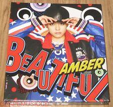 f(x) FX AMBER Beautiful 1ST MINI ALBUM K-POP CD + PHOTOCARD WITH FOLDED POSTER