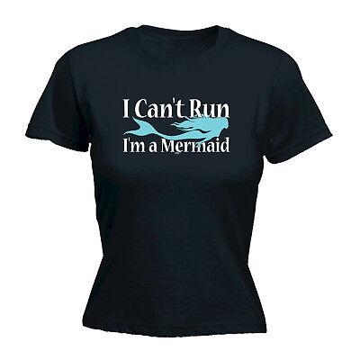 Divertenti Novità Tops T-shirt Da Donna Tee T-shirt-non Posso Correre Im Una Sirena-mostra Il Titolo Originale Promuovere La Salute E Curare Le Malattie