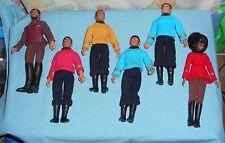 vintage Mego Star Trek LOT x6 CAPT. KIRK BONES McCOY SPOCK SCOTTY UHURA KLINGON