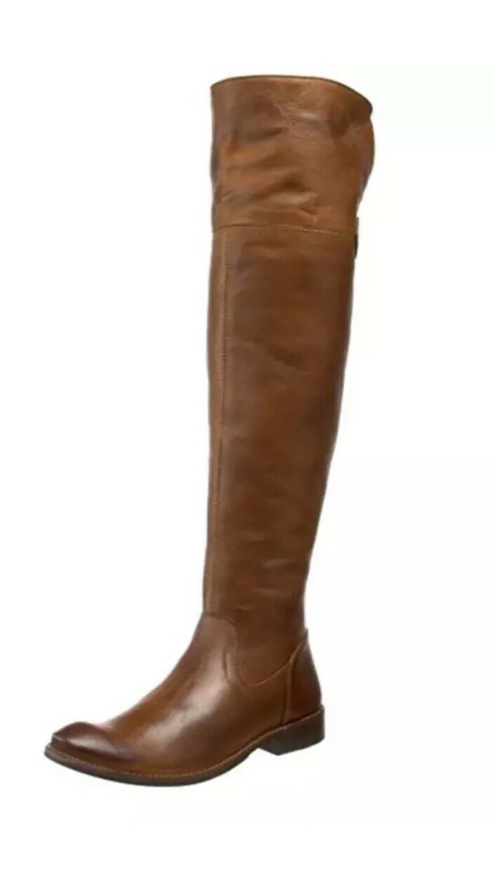 FRYE BOOT SHIRLEY OVER THE KNEE BROWN LEATHER EQUESTRIAN RIDING CLASSIC 6.5 NEW