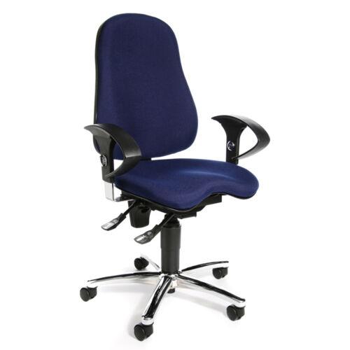 Drehstuhl Schreibtischstuhl Bürostuhl Sessel Topstar Sitness 10 blau B-Ware