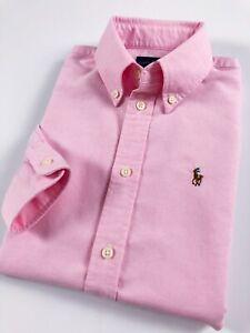 Ralph-Lauren-chemise-femme-Harper-Oxford-Rose-Bebe-Solide-Custom-Fit-manches-longues