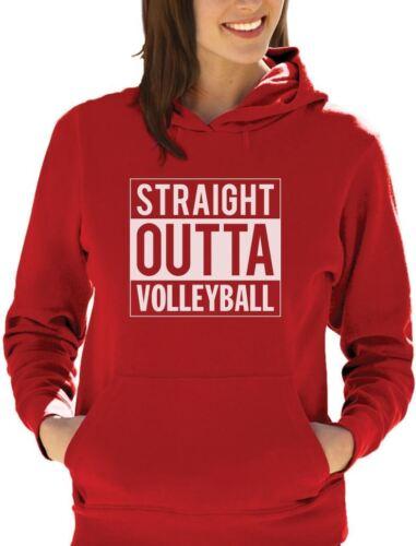 Straight Outta Volleyball Women Hoodie Gift Idea