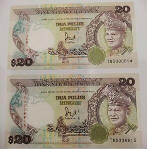 Malaysia 6th Series Jaffar RM20 TG 2pcs RN