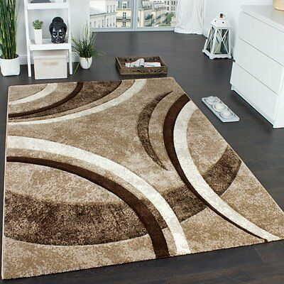 Brown Rugs Modern Beige Abstract Rug Carpet Thick Mat Small Extra Large Xl Ebay