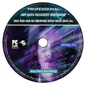 Any Data Recovery Restore Undelete HDD SSD USB SD Professional Software PC DVD +