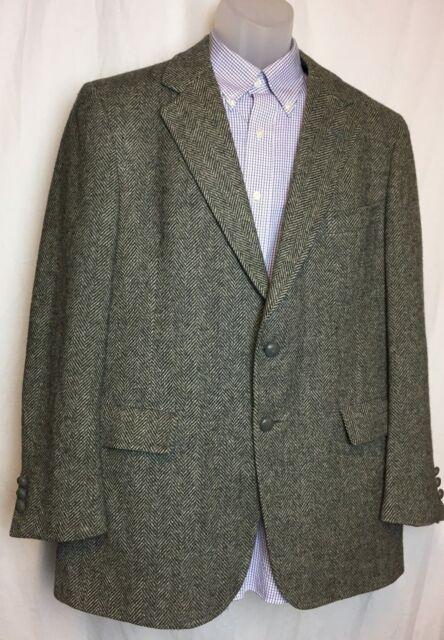 Gray Men S Tweed Hart Schaffner Marx Blazer 2 On Vented See Measurements