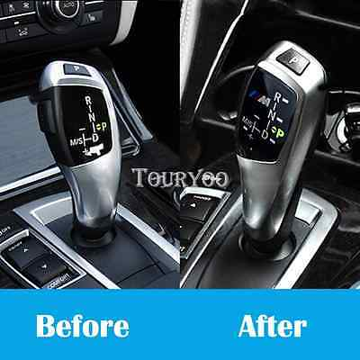 M Power Gear Shift Knob Panel Sticker for BMW E39 E46 E82 E90 E60 F10 F30 F34 M3