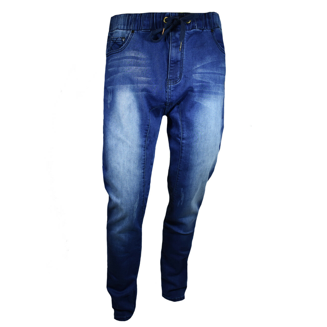 Mens Joggers Pants Denim Stretch Casual Fit Relaxed A  Jeans NEW C