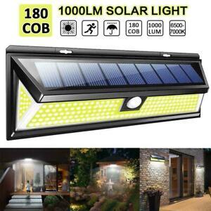 180-LED-Energia-Solare-Movimento-Sensori-Luci-da-Muro-Giardino-Esterno-Lampada