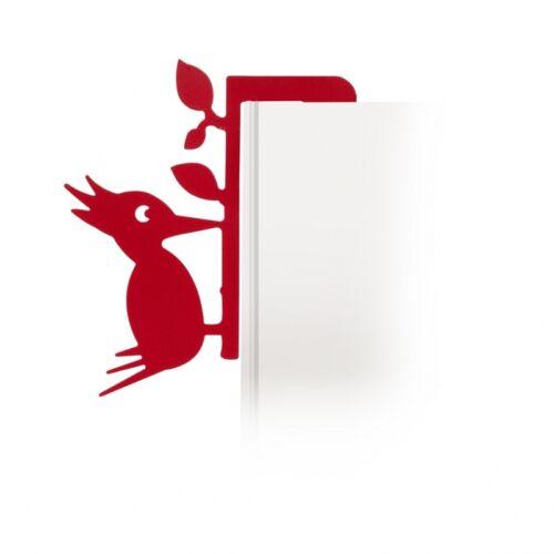Lesezeichen Book Pecker Buchzeichen Specht Lesemarke für das Bücherregal