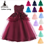 Kids-Flower-Girl-Bow-Princess-Dress-for-Girls-Party-Wedding-Bridesmaid-Gown-ZG9 thumbnail 1